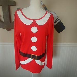 Mrs. Clause Long Sleeve Christmas Top.